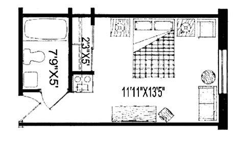 One Room Floor Plans by One Room Apartment Floor Plans Small One Room Apartment