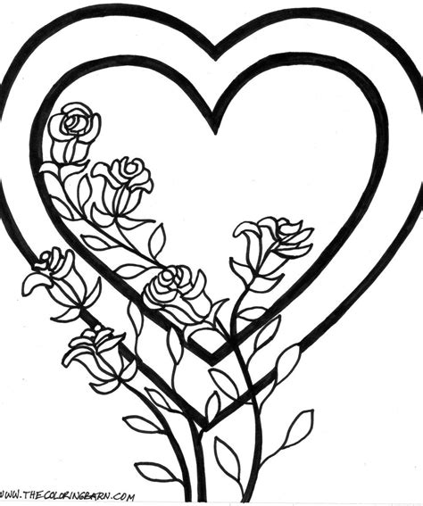 double heart coloring page exelent coloring pages with hearts inspiration exle