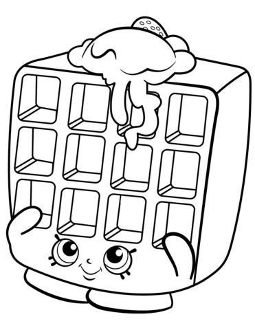 Waffle Sue Shopkin Målarbok | Delines fylla i teckningar