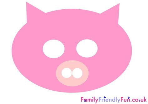 pig mask template pig mask for children farm animal costumes
