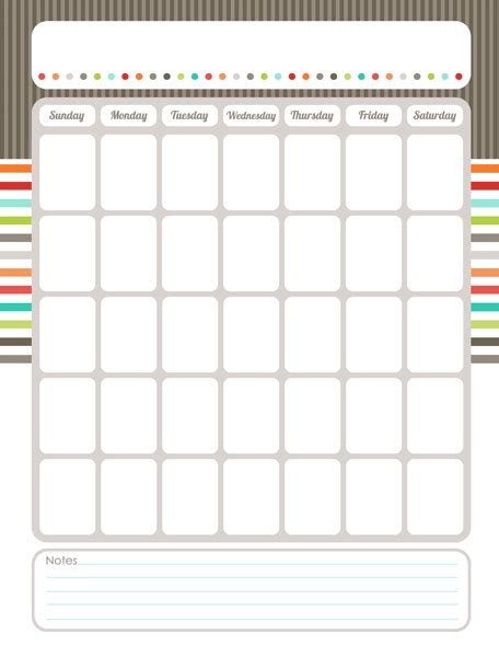 personalized calendar template 7 best images of printable blank calendar