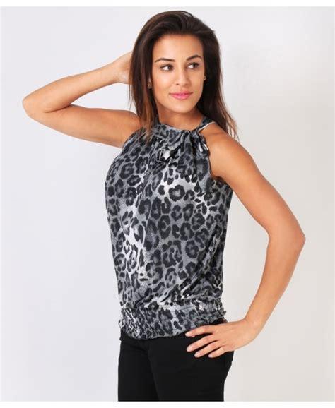 Bodycon Halterneck Leopard Dress Yy23023 shop for leopard print halterneck tops krisp