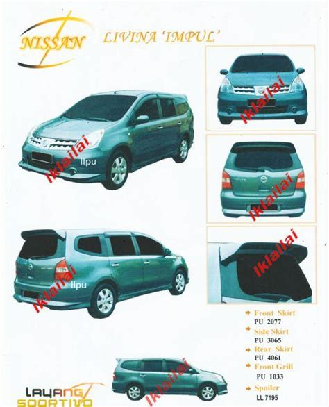Spoiler Livina With L 2 nissan livina impul grill