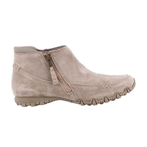 womens skechers womens usa bikers zippiest ankle booties