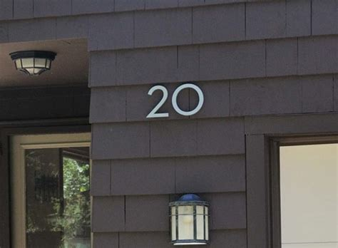 house numbers modern modern dwell house numbers house numbers mailboxes better living through design
