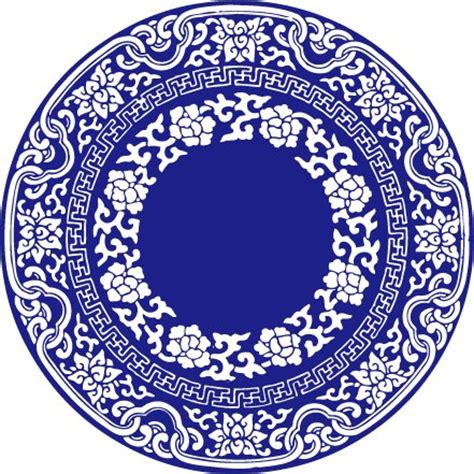 china blue pattern vector china wind vector blue and white porcelain vector files