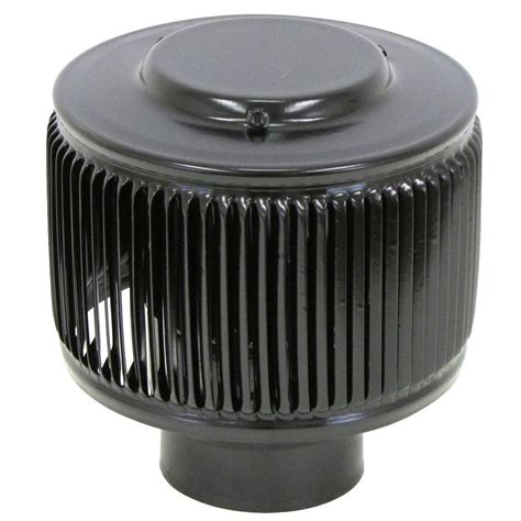 10 Inch Exhaust Cap by 10 In Goose Neck Vent Roof Cap In Black Gnv10bl The