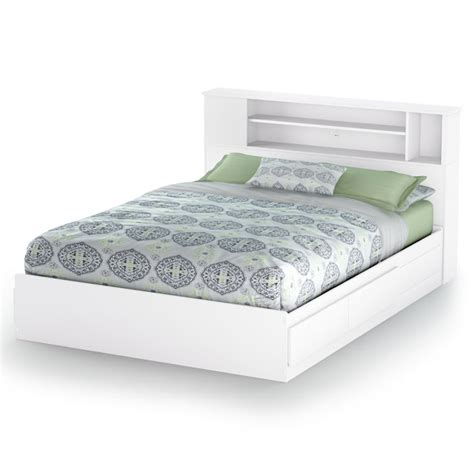 Storage Bed With Bookcase Headboard by Vito White Storage Bed With Bookcase Headboard Dcg