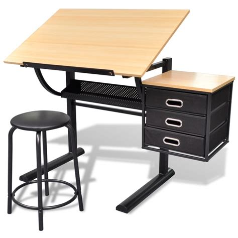 Tilt Art Drawing Drafting Table W 3 Drawers Stool Buy Where To Buy A Drafting Table