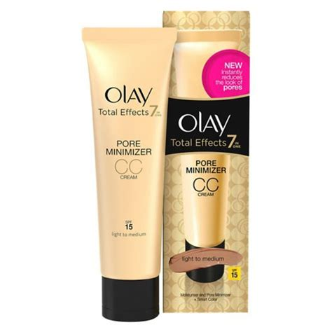 Olay Total Effect Cc olay total effects pore minimiser cc light medium