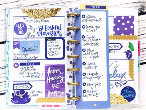 planner layout mini monochromatic fully functional happy planner 174 layout