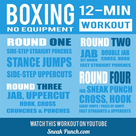 4 rounds of boxing to get you in fighting shape