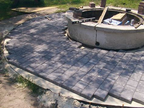 Laying Paver Patio 17 Best Images About Decks On Pits Patio And Conversation Pit