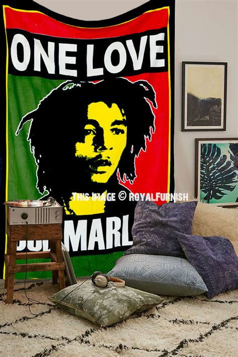 Bob Marley Bed Comforters by Bob Marley Rasta Reggae Jamaican Tapestry Wall Hanging