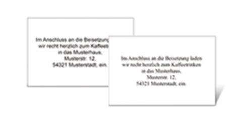 Muster Einladung Trauerfeier Trauerkarten Trauerdanksagungen Sterbebilder Trauerdruckportal De