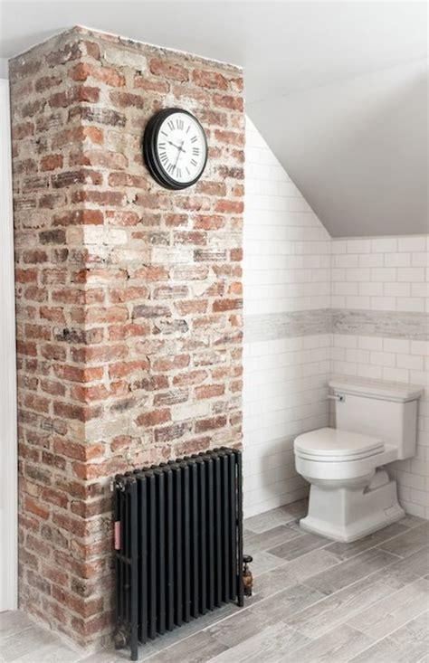 brick wall tiles bathroom wood like tile transitional bathroom cory connor design