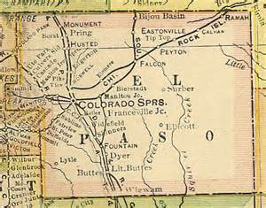 el co map el paso county colorado maps and gazetteers