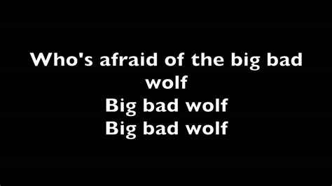 the big bad wolf 0755300211 who s afraid of the big bad wolf youtube
