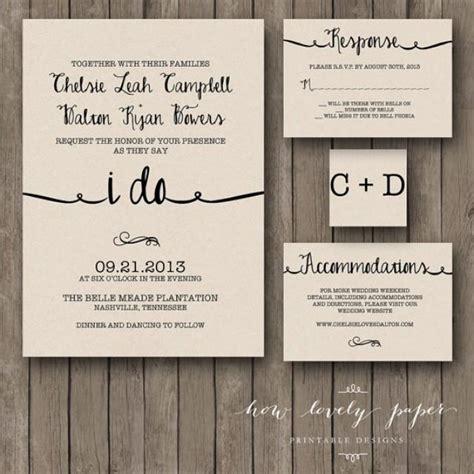 printable wedding invitation suite printable wedding invitation suite the ella collection