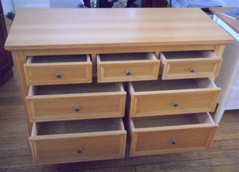 large solid oak 7 drawer chest of drawers draws dresser