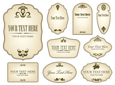 free download layout label free decorative label templates simple bottle label 01