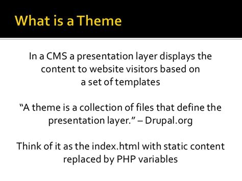 drupal themes definition a look at drupal 7 theming