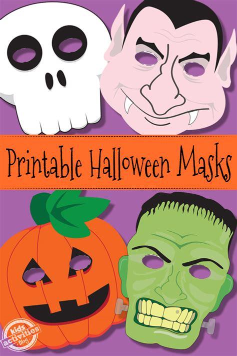 printable halloween masks to make halloween masks free kids printable
