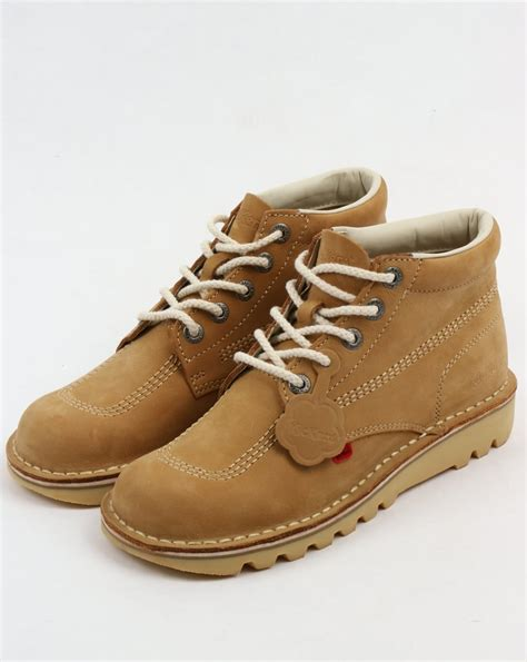 Boots Brown Kickers kickers kick hi boots in nubuck shoe chunky mens