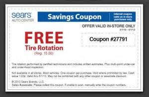Sears Auto Tire Rotation Price Sears Tire Coupons 2017 2018 Best Cars Reviews