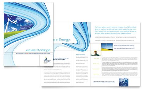 11x17 business card template renewable energy consulting brochure template word