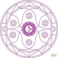 chakra mandala coloring pages ajna chakra mandala coloring page free printable
