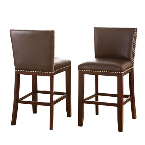 modern counter height chairs set of 2 modern hardwood brown vinyl counter