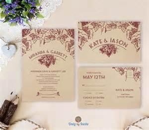 winery wedding invitations vineyard wedding invitation sets winery wedding by