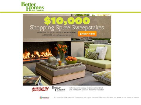 Better Homes And Gardens Daily Sweepstakes - the better homes and gardens 10 000 shopping spree sweepstakes