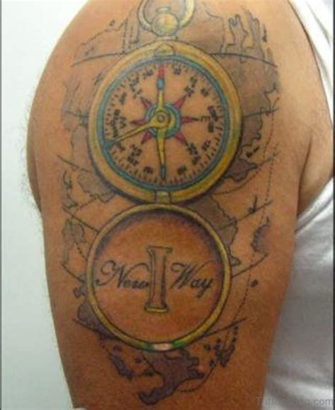 coloured compass tattoo 50 amazing compass tattoos on shoulder