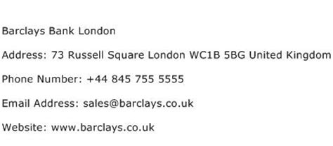 barclays bank office address barclays bank address contact number of barclays