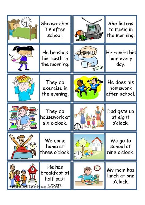 english printable worksheets daily routine daily routine game esl powerpoint worksheet of the day on