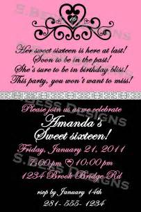 sweet 16 invitation wording template best template collection