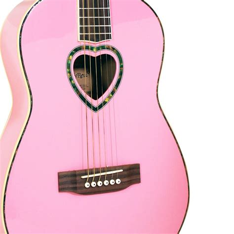 comfortable acoustic guitar acoustic guitar 3 4 candy rox pink ebay
