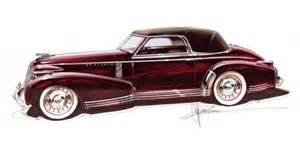 Cadillac Designs Chip Foose Remaking 1935 Cadillac Sketch Gm Authority