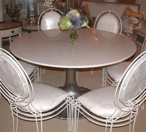 round granite dining table round aluminum base dining table with white granite top at 1stdibs