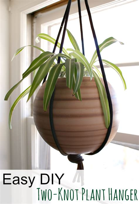 How To Make A Plant Hanger With Rope - acreage easy diy how to make a simple plant hanger