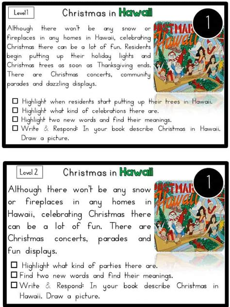 grade 2 reading comprehension christmas reading comprehension passages around the world sea of knowledge