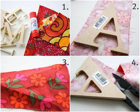 how to fabric covered letters my poppet makes