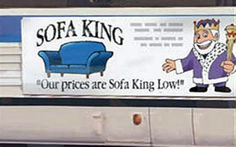 Sofa King Low Sofa King Advert Banned For Swearing Slogan Telegraph