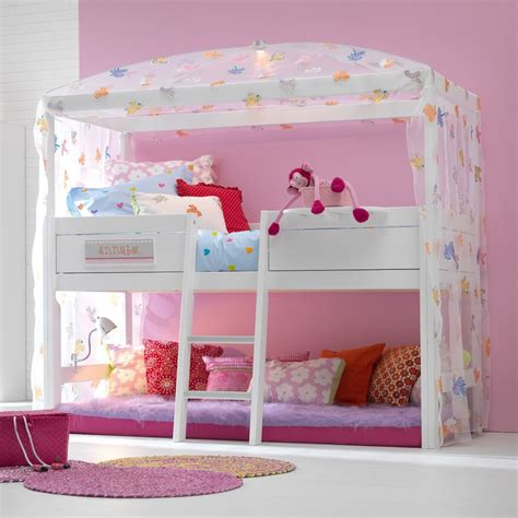 Pine Childrens Bedroom Furniture Freebird 4 Poster High Bed Lifetime Furniture Cuckooland