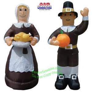 thanksgiving airblown inflatables air blown inflatable thanksgiving pilgrim man and woman combo