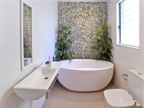 small bathroom with freestanding tub a small narrow space bathroom with round free standing