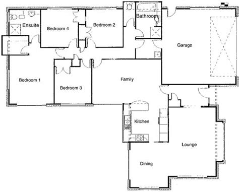 floor plan of residential house modern house plans to build modern house