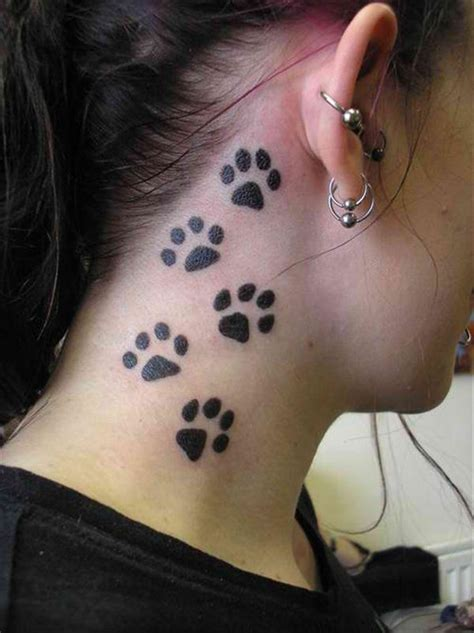 dog paws prints tattoos for girls tattooshunt com